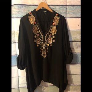 Black bohemian tunic size 3X
